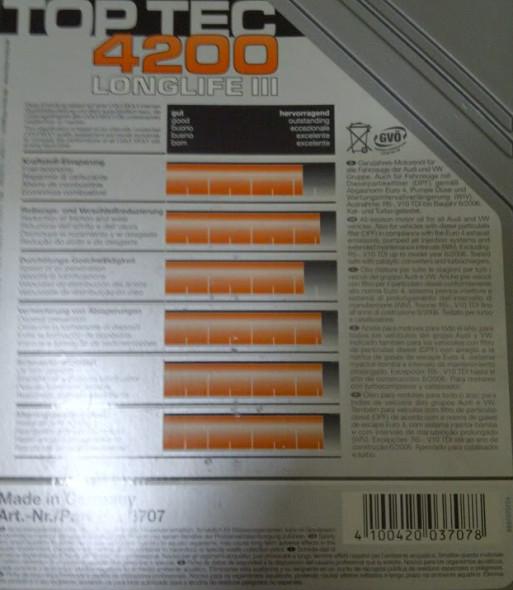 liqui moly top tec 4200 5w 30 im test liqui moly motor l. Black Bedroom Furniture Sets. Home Design Ideas