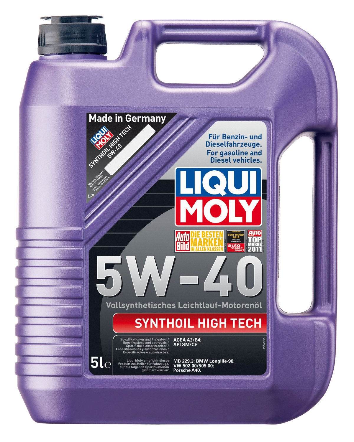 liqui moly synthoil high tech 5w 40 im test liqui moly motor l synthoil high tech testbericht. Black Bedroom Furniture Sets. Home Design Ideas